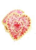 Galletas del día de tarjeta del día de San Valentín Fotografía de archivo