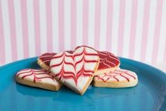 Galletas del día de tarjeta del día de San Valentín Fotos de archivo