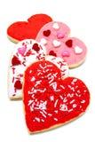 Galletas del día de tarjetas del día de San Valentín Fotos de archivo libres de regalías