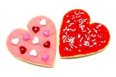 Galletas del día de tarjetas del día de San Valentín Fotografía de archivo