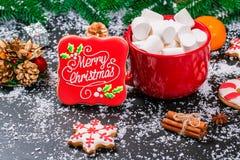 Galletas del fondo de la Navidad Fotografía de archivo libre de regalías