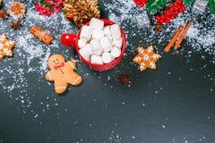 Galletas del fondo de la Navidad Imagen de archivo libre de regalías