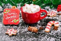 Galletas del fondo de la Navidad Imagenes de archivo