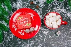 Galletas del fondo de la Navidad Fotografía de archivo