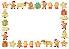 Galletas del gingerbead de la Navidad Fotografía de archivo libre de regalías