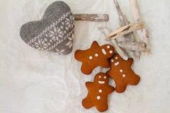 Galletas del hombre de pan de jengibre Imagen de archivo libre de regalías