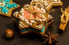 Galletas del jengibre de la Navidad Imagen de archivo