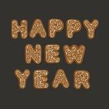 Galletas del jengibre - Feliz Año Nuevo Foto de archivo