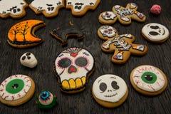 Galletas del jengibre para Halloween Imagen de archivo libre de regalías