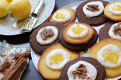 Galletas del limón y del chocolate Imagen de archivo