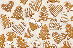 Galletas del pan de jengibre imagen de archivo
