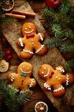 Galletas del pan de jengibre Foto de archivo libre de regalías