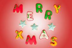 Galletas del pan de jengibre de la Feliz Navidad Fotografía de archivo libre de regalías