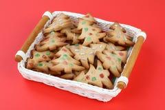 Galletas del pan de jengibre de la Navidad foto de archivo libre de regalías