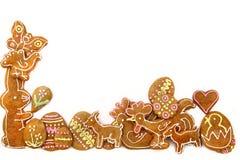Galletas del pan de jengibre de Pascua - tradición checa Fotos de archivo libres de regalías