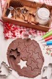 Galletas del pan de jengibre de la Navidad Imagen de archivo