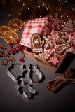 Galletas del pan de jengibre de la Navidad Foto de archivo