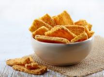 Galletas del queso Foto de archivo libre de regalías
