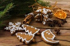 Galletas del regalo de la Navidad imágenes de archivo libres de regalías