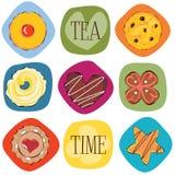 Galletas del té Fotos de archivo libres de regalías