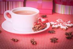 Galletas del té y de la Navidad Fotografía de archivo libre de regalías