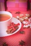 Galletas del té y de la Navidad Imágenes de archivo libres de regalías