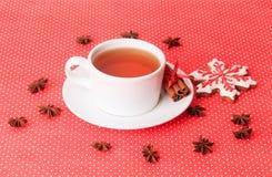 Galletas del té y de la Navidad Foto de archivo libre de regalías