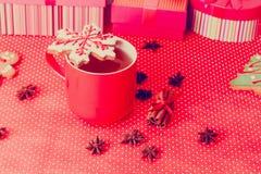 Galletas del té y de la Navidad, concepto del día de fiesta Fotos de archivo