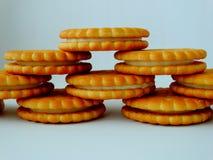 Galletas deliciosas para el desayuno Fotografía de archivo libre de regalías
