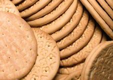 Galletas dietéticas, salud de los pasteles, textura, comidas de los fondos Imagenes de archivo
