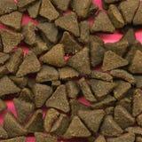 Galletas dispersadas del gato Foto de archivo libre de regalías