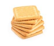 Galletas dulces aisladas en blanco. Imagen de archivo libre de regalías