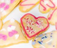 Galletas dulces de la Navidad fotos de archivo