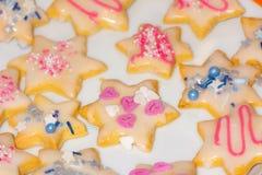 Galletas dulces de la Navidad fotos de archivo libres de regalías