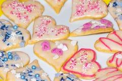 Galletas dulces de la Navidad fotografía de archivo libre de regalías