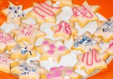 Galletas dulces de la Navidad imágenes de archivo libres de regalías