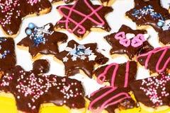Galletas dulces de la Navidad imagen de archivo