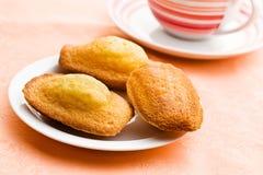 Galletas dulces de madeleine imagen de archivo