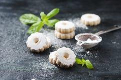Galletas dulces hechas en casa con la menta Foto de archivo libre de regalías