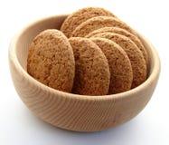 Galletas en el plato Foto de archivo