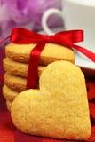 Galletas en forma de corazón Imagen de archivo