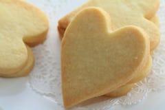 Galletas en forma de corazón Imagen de archivo libre de regalías