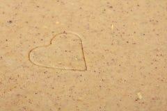 Galletas en forma de corazón de la tarjeta del día de San Valentín del St. Fotos de archivo libres de regalías