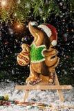 Galletas en la forma de un perro Símbolo del año Foto de archivo