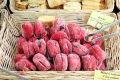 Galletas en una parada del mercado Fotografía de archivo