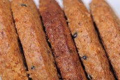Galletas enteras de la harina de trigo de los granos imagenes de archivo