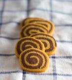 galletas espirales Fotografía de archivo