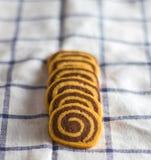 galletas espirales Fotos de archivo