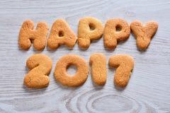 2017 galletas felices Fotografía de archivo libre de regalías