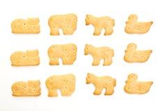 Galletas formadas animal Foto de archivo